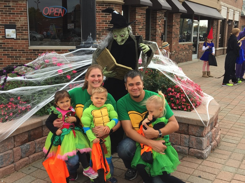 Family fun in downtown Clawson on Halloween